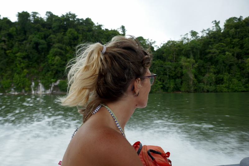 Anete during the cruise on the Rio Dulce